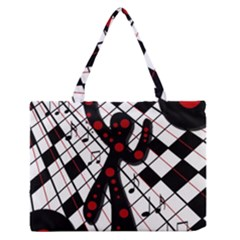 On The Dance Floor  Medium Zipper Tote Bag by Valentinaart
