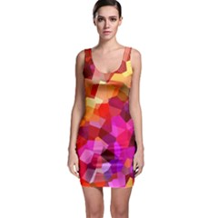 Geometric Fall Pattern Bodycon Dress