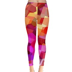 Geometric Fall Pattern Leggings  by DanaeStudio