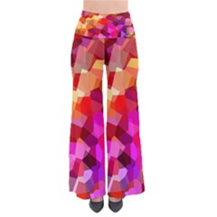 Geometric Fall Pattern Women s Chic Palazzo Pants  by DanaeStudio