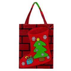 Christmas Sock Classic Tote Bag by Valentinaart