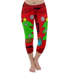 Christmas Sock Capri Winter Leggings