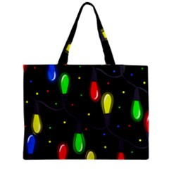 Christmas Light Medium Tote Bag by Valentinaart