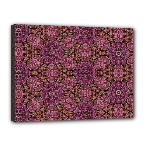 Fuchsia Abstract Shell Pattern Canvas 16  X 12  by TanyaDraws