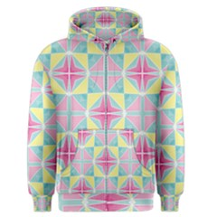 Pastel Block Tiles Pattern Men s Zipper Hoodie by TanyaDraws