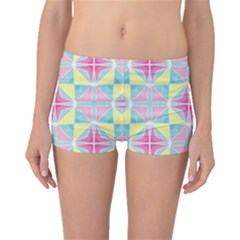 Pastel Block Tiles Pattern Boyleg Bikini Bottoms