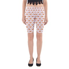 Fox And Laurel Pattern Yoga Cropped Leggings