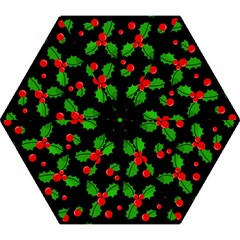 Christmas Berries Pattern  Mini Folding Umbrellas by Valentinaart