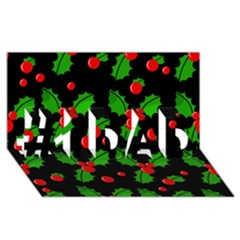 Christmas Berries Pattern  #1 Dad 3d Greeting Card (8x4)