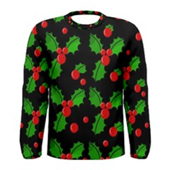 Christmas Berries Pattern  Men s Long Sleeve Tee
