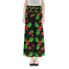 Christmas Berries Pattern  Maxi Skirts by Valentinaart