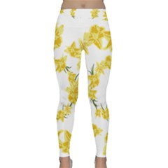 Daffodils Illustration  Yoga Leggings  by vanessagf