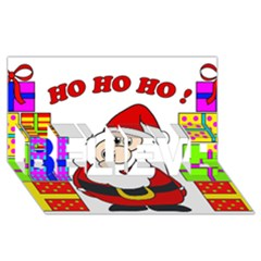 Santa Claus Pattern   Transparent Believe 3d Greeting Card (8x4)