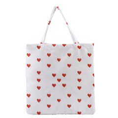 Cute Hearts Motif Pattern Grocery Tote Bag by dflcprints