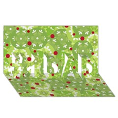 Green Christmas Decor #1 Dad 3d Greeting Card (8x4) by Valentinaart