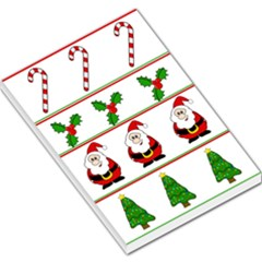 Christmas Pattern Large Memo Pads by Valentinaart