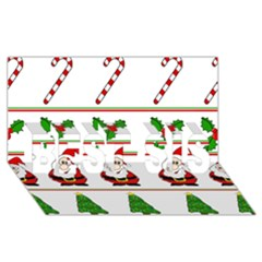Christmas Pattern Best Sis 3d Greeting Card (8x4) by Valentinaart