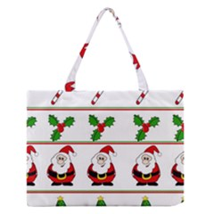 Christmas Pattern Medium Zipper Tote Bag by Valentinaart