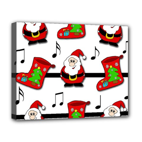 Christmas Song Deluxe Canvas 20  X 16   by Valentinaart