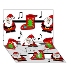 Christmas Song Love Bottom 3d Greeting Card (7x5) by Valentinaart