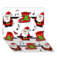 Christmas Song Circle 3d Greeting Card (7x5) by Valentinaart