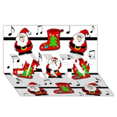 Christmas Song Party 3d Greeting Card (8x4) by Valentinaart