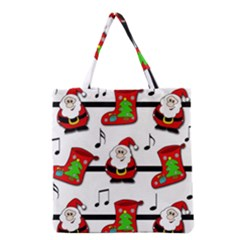Christmas Song Grocery Tote Bag by Valentinaart