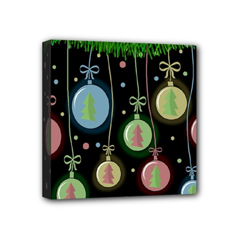 Christmas Balls   Pastel Mini Canvas 4  X 4  by Valentinaart