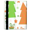 Christmas design - green and orange Samsung Galaxy Tab 8.9  P7300 Flip Case View3