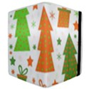 Christmas design - green and orange Samsung Galaxy Tab 8.9  P7300 Flip Case View4