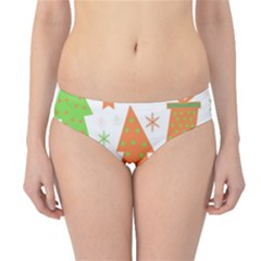 Christmas Design   Green And Orange Hipster Bikini Bottoms by Valentinaart