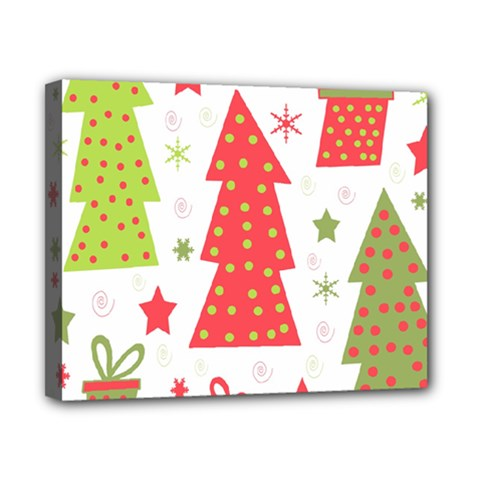 Christmas Design   Green And Red Canvas 10  X 8  by Valentinaart