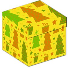 Christmas Design   Yellow Storage Stool 12   by Valentinaart