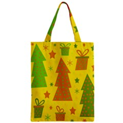 Christmas Design   Yellow Zipper Classic Tote Bag by Valentinaart