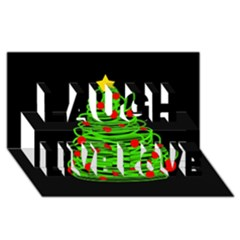 Christmas Tree Laugh Live Love 3d Greeting Card (8x4)