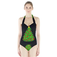 Christmas Tree Halter Swimsuit by Valentinaart