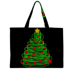 Christmas Tree Medium Tote Bag by Valentinaart