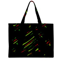 Abstract Christmas Tree Zipper Mini Tote Bag by Valentinaart