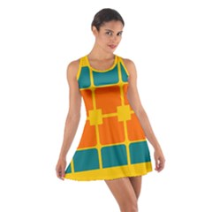 Squares And Rectangles                                                                                                Cotton Racerback Dress by LalyLauraFLM