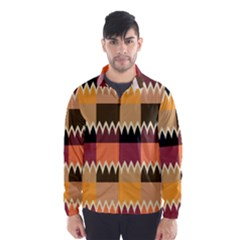 Chevrons In Squares                                                                                                 Wind Breaker (men) by LalyLauraFLM