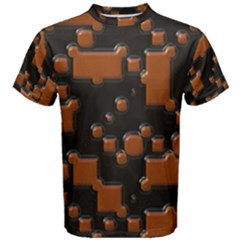 Brown Pieces                                                                                                  Men s Cotton Tee by LalyLauraFLM