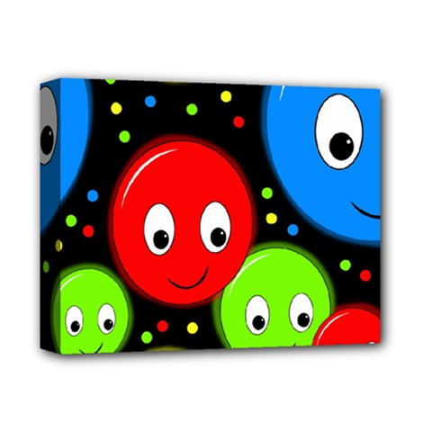 Smiley Faces Pattern Deluxe Canvas 14  X 11  by Valentinaart