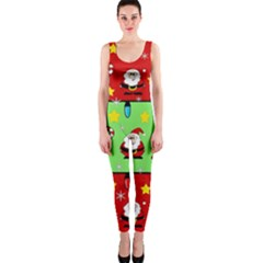 Christmas Pattern   Green And Red Onepiece Catsuit by Valentinaart