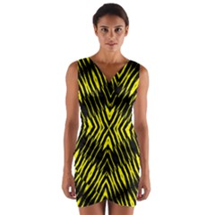Yyyyyyyyy Wrap Front Bodycon Dress by MRTACPANS