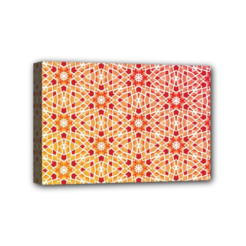 Orange Ombre Mosaic Pattern Mini Canvas 6  X 4  by TanyaDraws