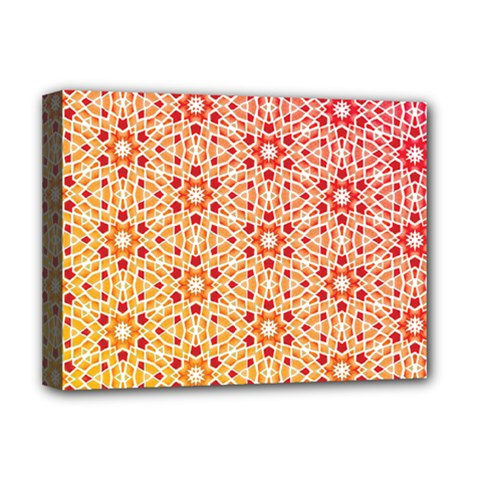 Orange Ombre Mosaic Pattern Deluxe Canvas 16  X 12   by TanyaDraws
