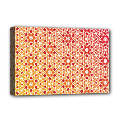 Orange Ombre Mosaic Pattern Deluxe Canvas 18  X 12