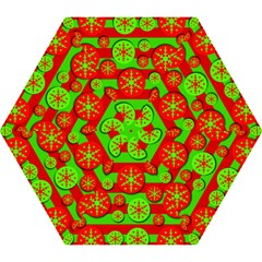 Snowflake Red And Green Pattern Mini Folding Umbrellas by Valentinaart