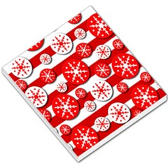 Snowflake Red And White Pattern Small Memo Pads