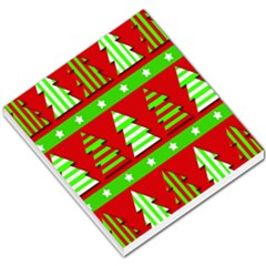 Christmas Trees Pattern Small Memo Pads by Valentinaart